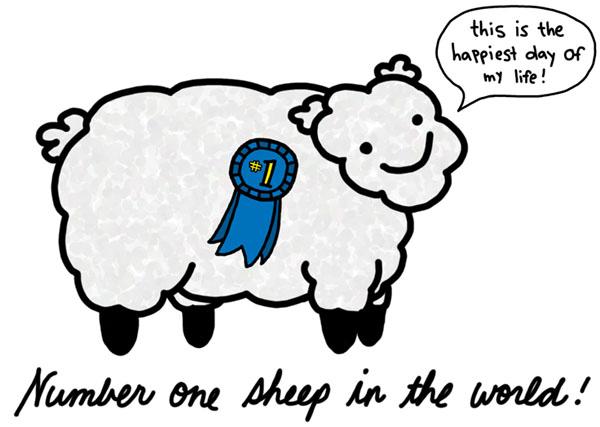 mouton joyeux (copyright natalie dee)