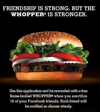 whopper sacrifice d'amis