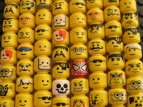 lego heads crowd