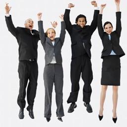 managers qui sautent