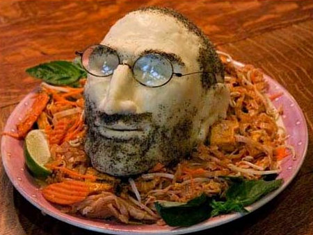 Steve Jobs mozzarella head