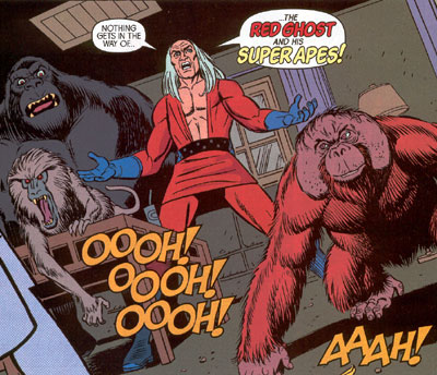 red ghost and his super apes